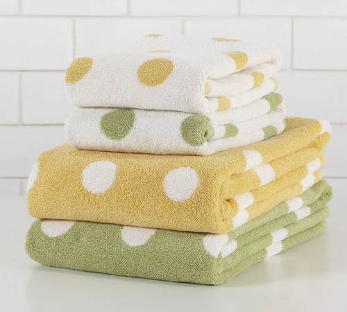 Pottery Barn Polkadot Towels