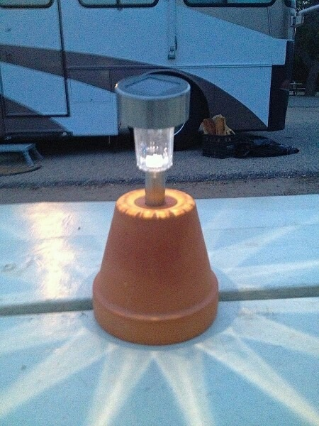 upside down solar light