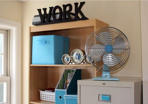 Vintage Fan on Vintage File Cabinet