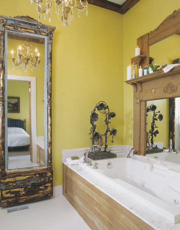 Yellow bathroom decorating ideas bclskeystrokes for Yellow bathroom decor