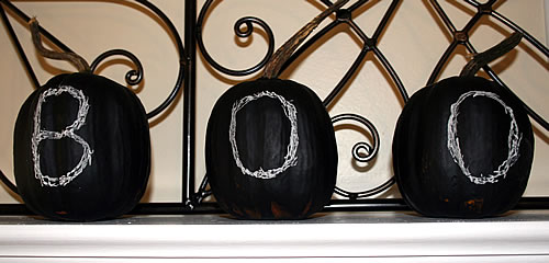 Chalkboard Pumpkins by Your Home Only Better