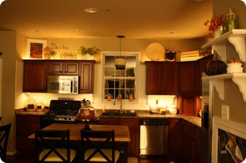 Decorating ideas for the top of kitchen cabinets pictures for On top of kitchen cabinet decorating ideas
