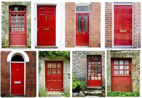 red front doors