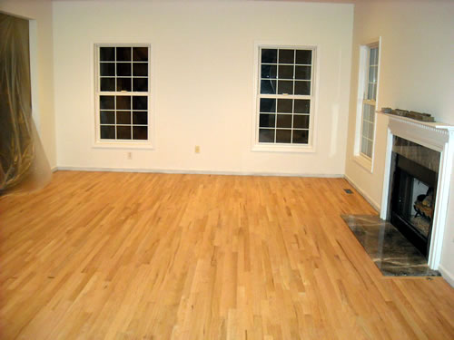 new hardwood floor in family room