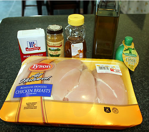 Honey Lime Chicken Ingredients