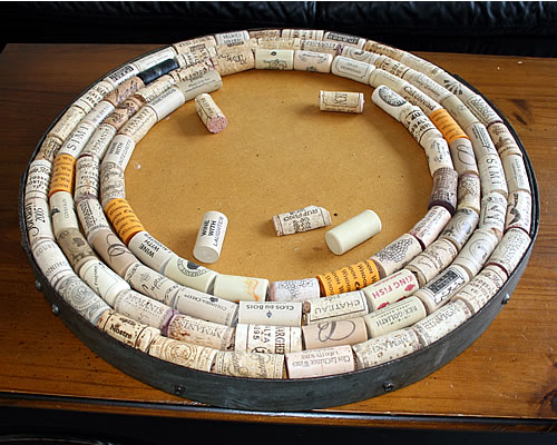 wine cork inspiration art piece