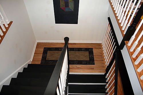 DIY painted stairs after shot