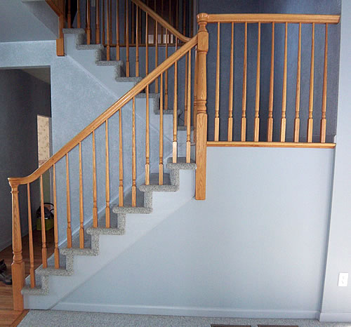 DIY Carpeted Stairs Before