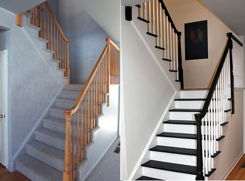 Painting stairs diy faqs and tips - Peindre une cage d escalier ...