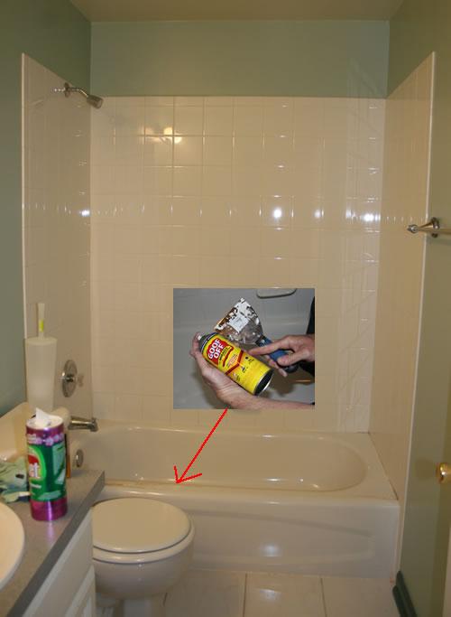 removing caulk from tub