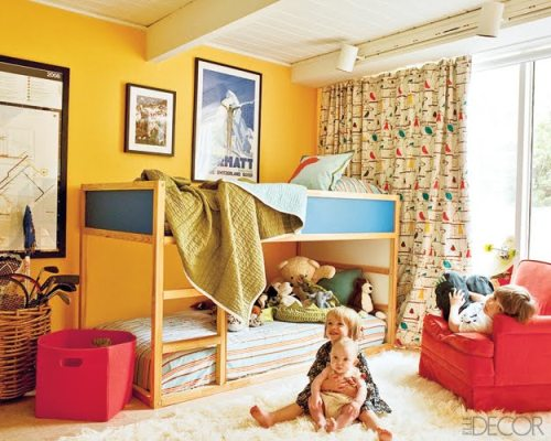 primary colors gender neutral kids room