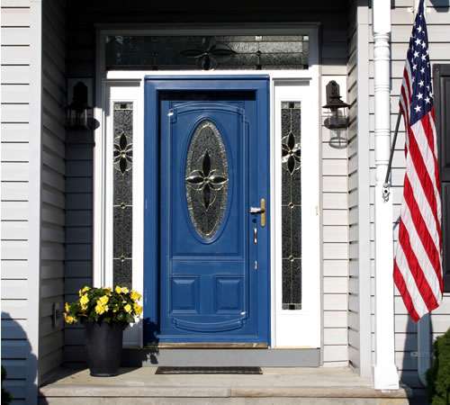 Good Front Door Colors Delectable Of House with Blue Front Door Colors Picture
