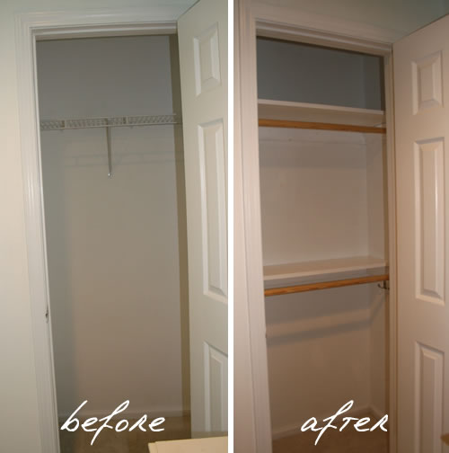 Genial Closet Before And After