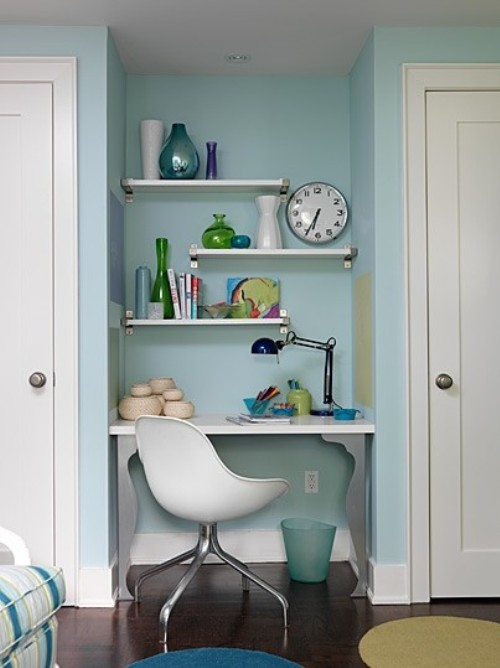 Small Space Home Offices Storage Decor: Carve Out A Tiny Office Space
