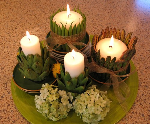 vegetable candle centerpiece