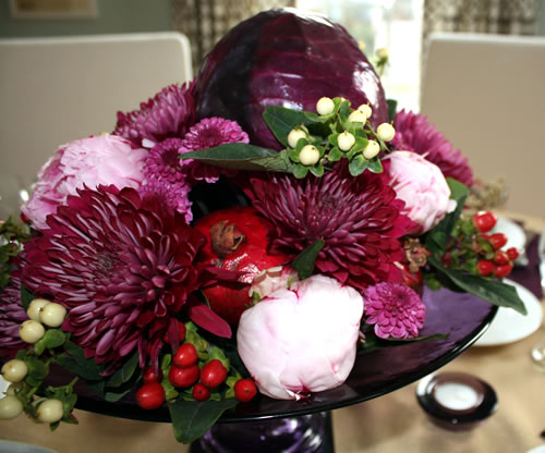 vegetable and flower centerpiece