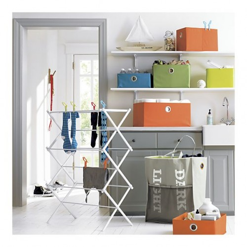crate and barrel laundry totes