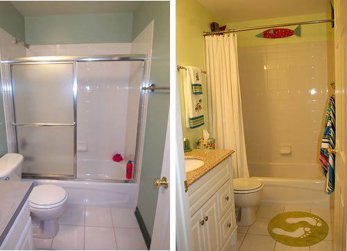 kids bathroom before and after