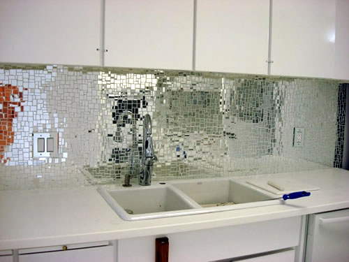 mosaic glass kitchen backsplash