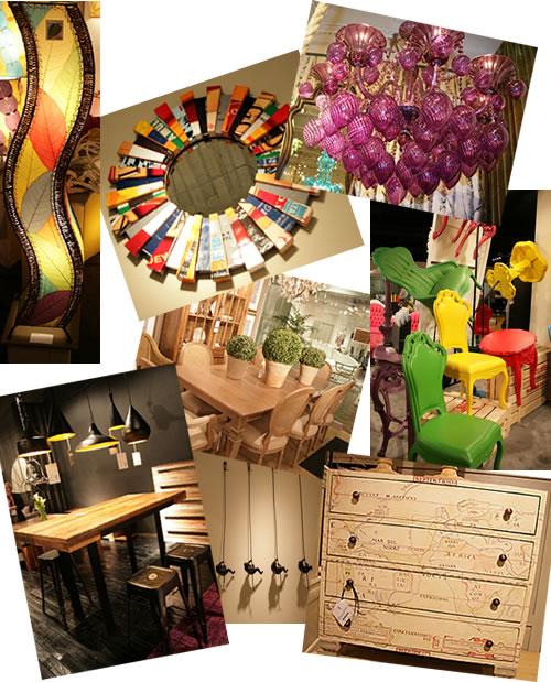 interior design montage from Las Vegas Winter Market 2012