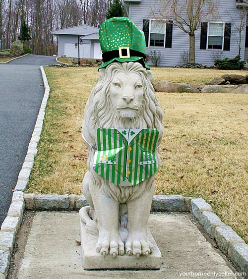 lion statue saint patricks day