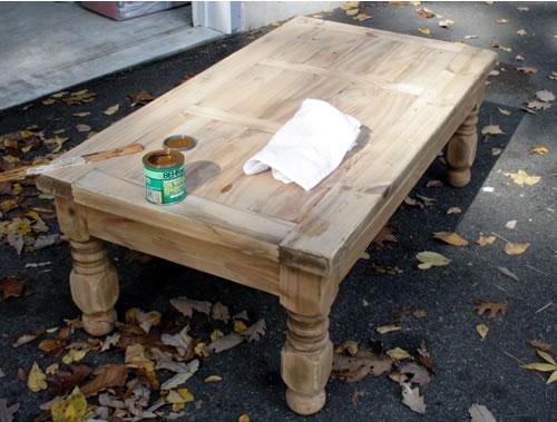 farm coffee table before
