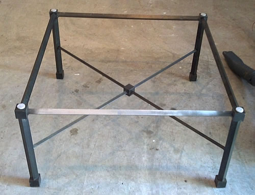 Metal Coffee Table Base Only Diy Wood Ladder Rack