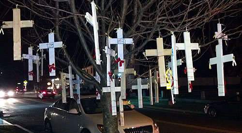 sandy hook crosses