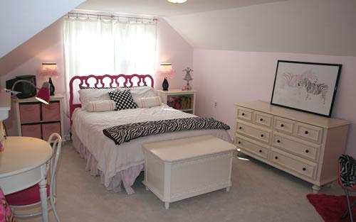 pink zebra glam room after