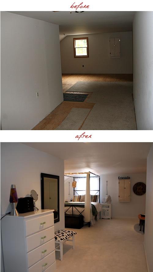 dressing area of tweens bedroom