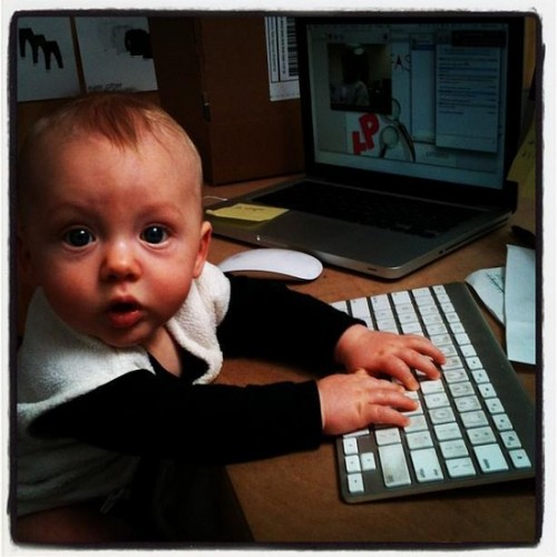 baby at work