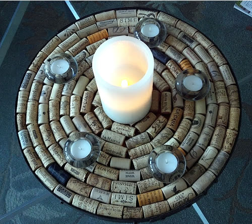 wine cork round diy decor