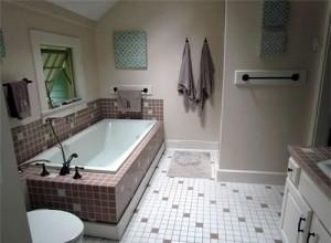 master bathroom with updated fixtures