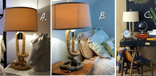 3 ways to design around a table lamp