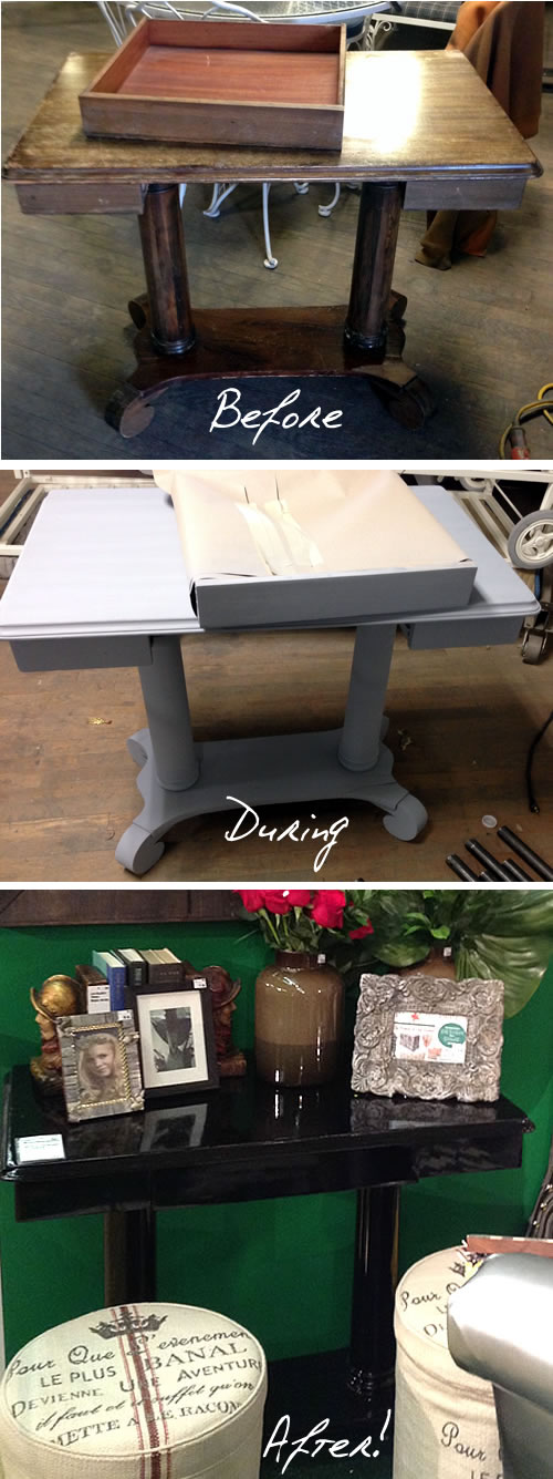 upcycled desk before during and after