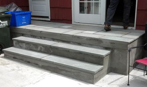 new bluestone on patio steps