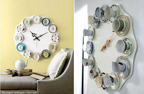 tea cup DIY wall clock