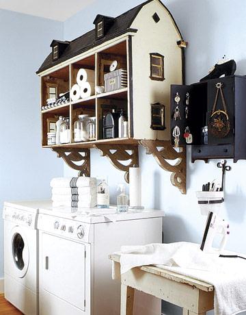 Dollhouse Laundry Storage Upcycling Idea