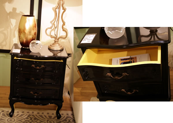 black and yellow painted furniture