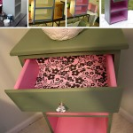 diy furniture painting two toned night table with bling