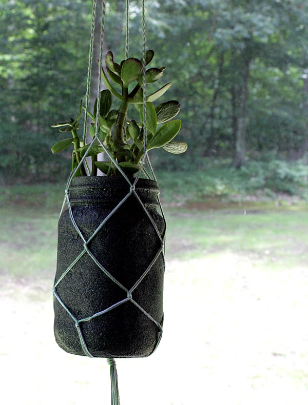 mason jar hanging planter