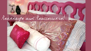 rearrange and reaccessorize pink room