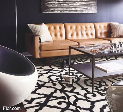 flor carpet tiles geometric print