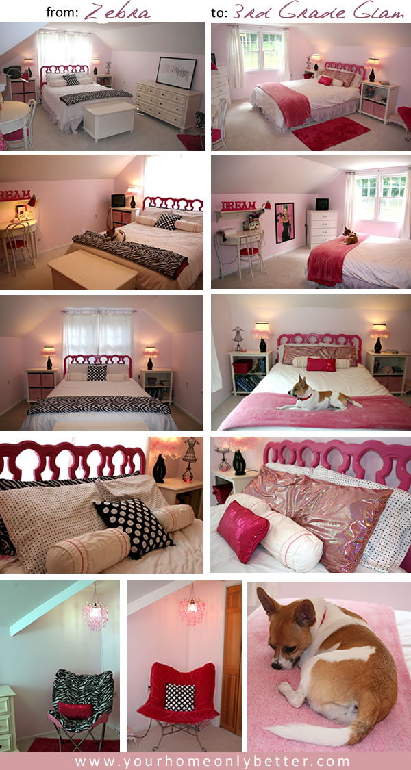 rearranging a girls pink room