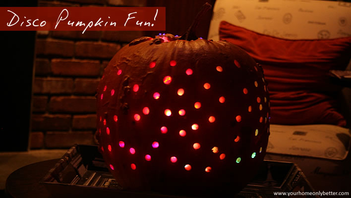 disco pumpkin fun with a power tool