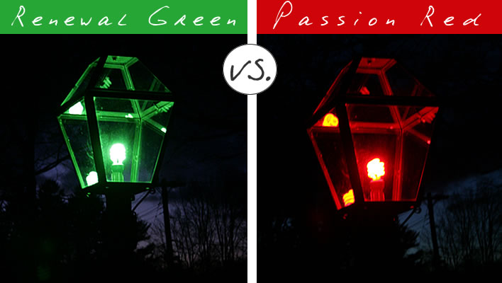 mood lights red light post vs green light post