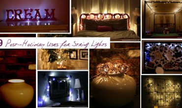 9 post holiday uses for string lights #diy #decor #yourhomeonlybetter