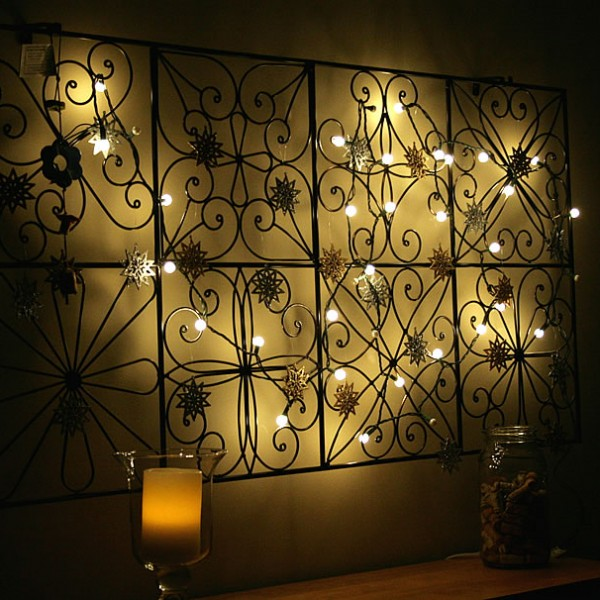 String Lights On Wall: 9 Post-Holiday Uses For String Lights