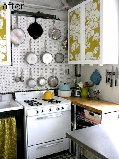 Small Apartment Hacks: small kitchen storage solutions