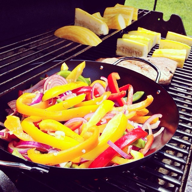 What's for lunch today! #veggies #grill